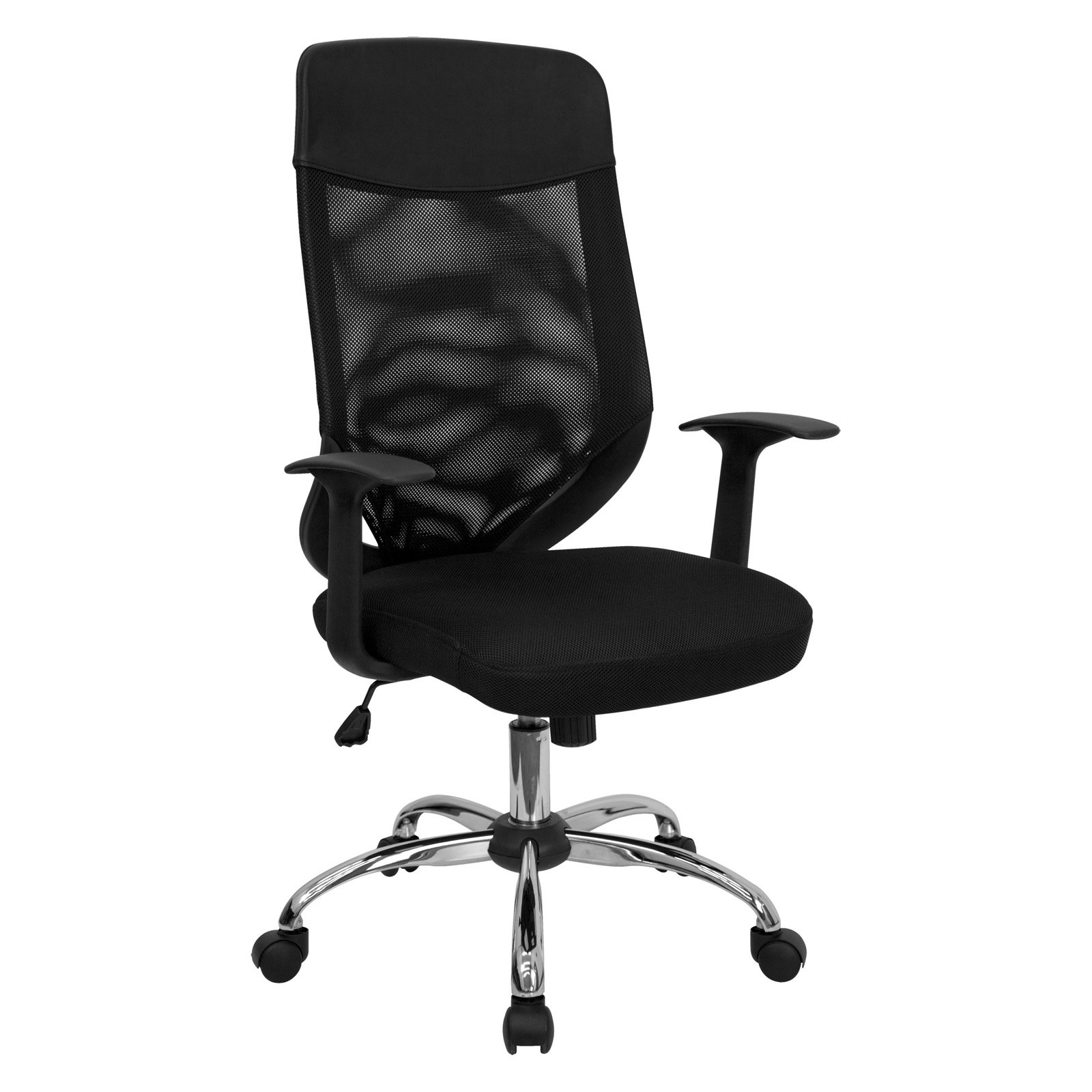 Flash Furniture High-Back Office Chair, Black and Chrome