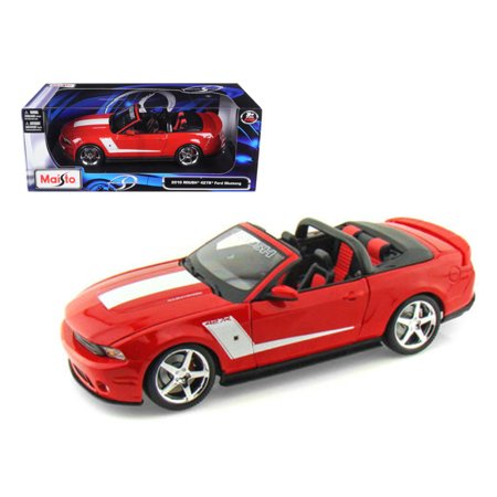 2010 Ford Mustang Convertible 427R Roush Edition Red 1/18 Diecast Model Car by Maisto