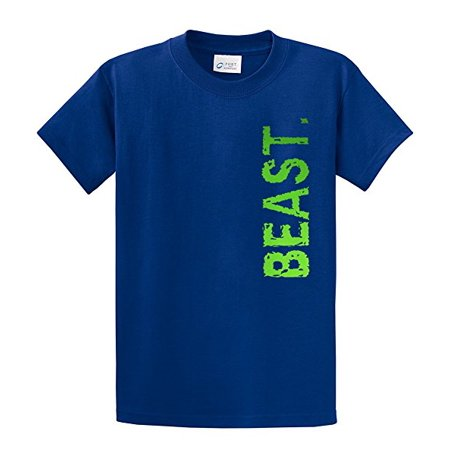 Youth Soccer T-Shirt Beast In Neon Green Sports-royal-ym ()