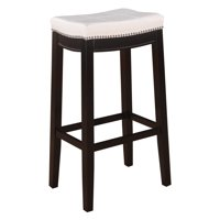 Linon Claridge Bar Stool, 30 inch Seat Height, Multiple Colors
