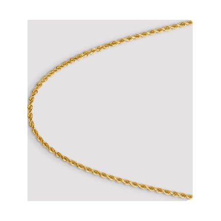 Leslies 14K 4.00mm Diamond Cut Rope Chain - image 4 of 5