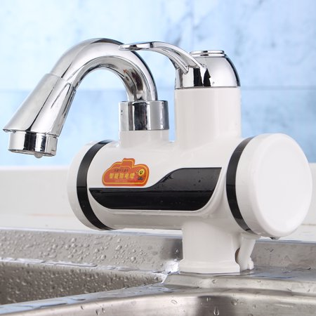 Tankless Instant Electric Hot Water Heater Faucet Bathroom Kitchen Heating Tap - image 2 de 10