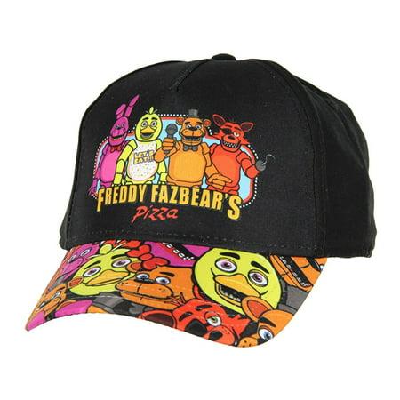 Five Nights at Freddy's Youth Freddy Printed Brim Snapback Hat - Deadpool Snapback Hat