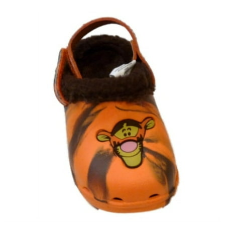 Disney Infant & Toddler Boys Tigger Clogs With Faux Fur Trim Pooh Shoes