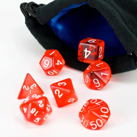 Red Translucent W White  7  New Condition
