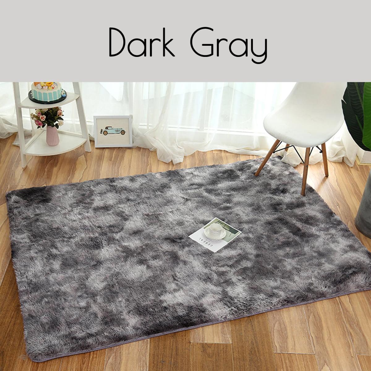 Soft Fluffy Rugs Anti-Skid Shaggy Area Rug Room Home Bedroom Floor Mat
