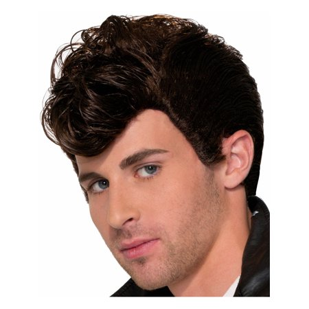 Adults Mens Brown Greaser West Side Story Punk Wig Costume Accessory