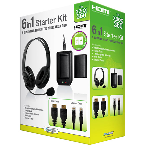 Xbox 360 6 in 1 Bundle - Black Xbox 360