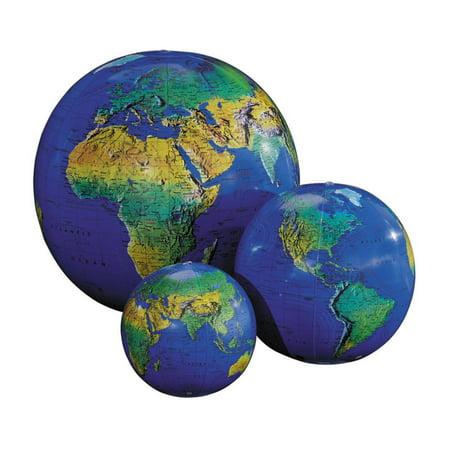 Replogle Inflatable Topographical Globe - Inflatable World Globe