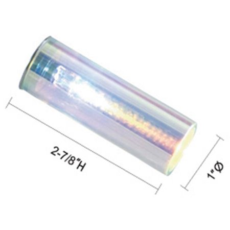 Jesco Lighting QASA124FR Glass Replacement for Low Voltage Quick Adapt Spot, Frosted Tube Glass - Frosted Glass Tube
