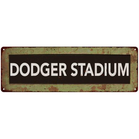 DODGER STADIUM Trollery Bus Roll Vintage Reproduction Metal Sign 6x18 6180567