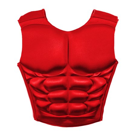 Adult's Red Superhero Or Villain Muscle Chest Padded Shirt Costume Accessory - Superhero And Villain Ideas