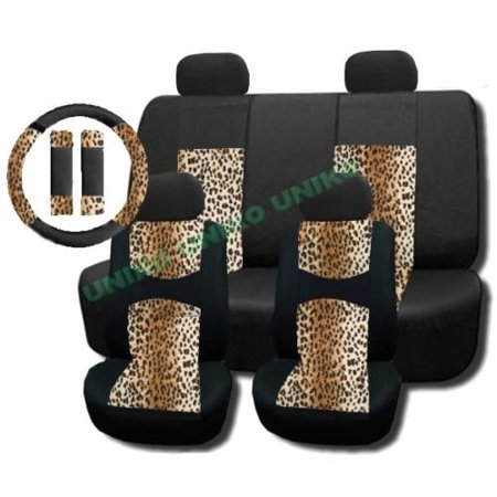New And Exclusive Mesh Animal Print Accent Interior Set Cheetah Tan