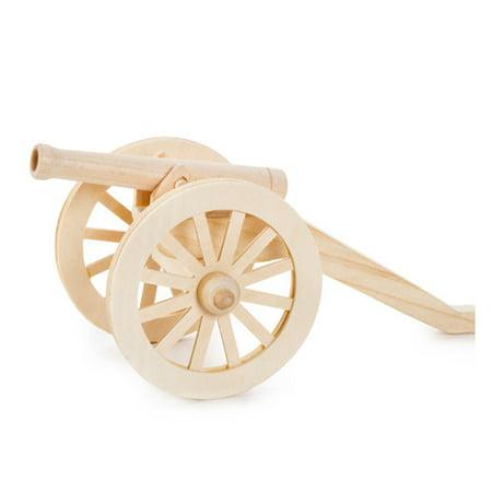 - Wood Civil War Cannon Model Kit: 9.5 x 4.5 x 4.5 inches