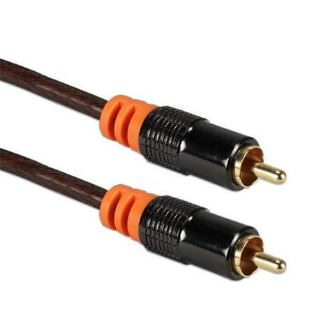QVS RCA1A-50 50 ft. HDTV RCA Premium Digital & SPDIF Subwoofer Audio Coax Cable Premium Digital Coax