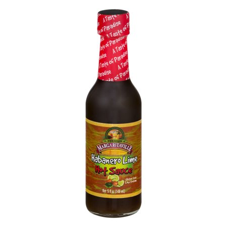 ((3 Pack) Margaritaville Hot Sauce Habanero Lime, 5.0 FL OZ)