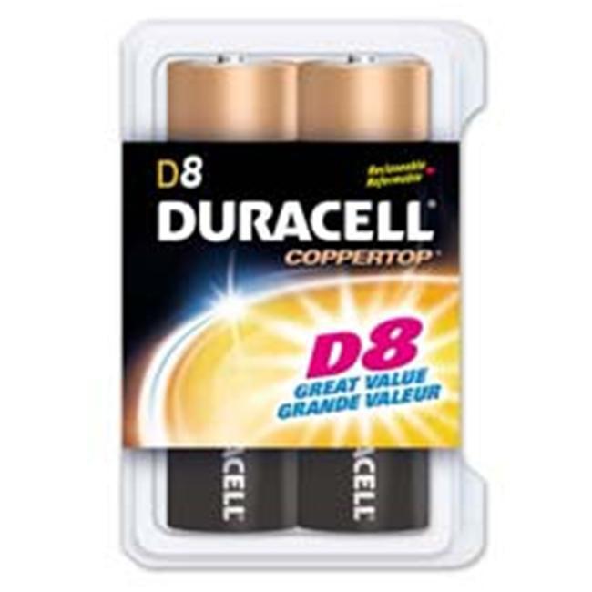 Duracell DURMN13RT8Z Alkaline Battery- D Size- 8-PK