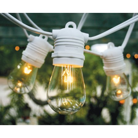 fantado 10 socket outdoor commercial grade patio string light set s14 bulbs 21 ft
