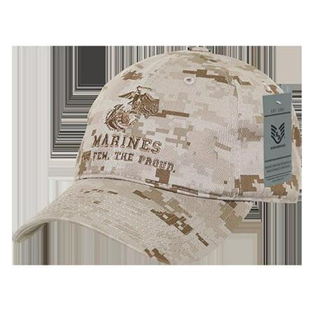 RapidDominance S78-MAR2-DDG Marines 2 Relaxed Cotton Cap, Desert Dig Camo Desert Fatigue Cap