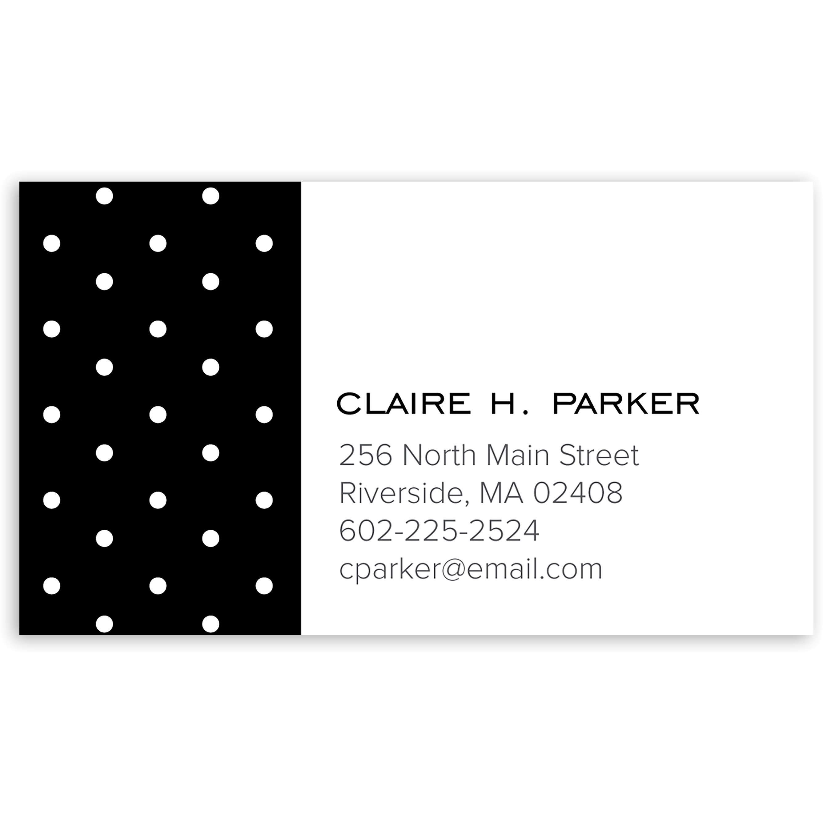 Dotted - Personalized 3.5 x 2 Business Card