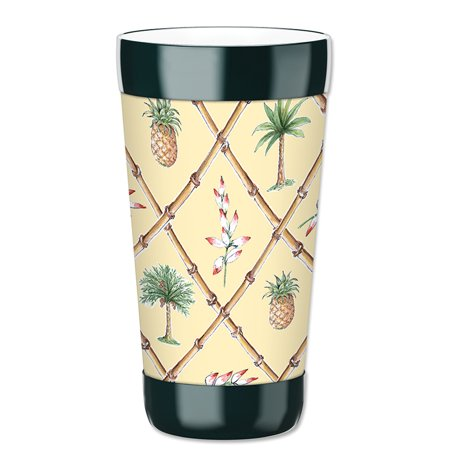 Mugzie 16-Ounce Tumbler Drink Cup with Removable Insulated Wetsuit Cover - Bahama Pineapple
