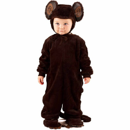 Plush Monkey Child Halloween Costume](Baby Monkey Halloween Costumes)