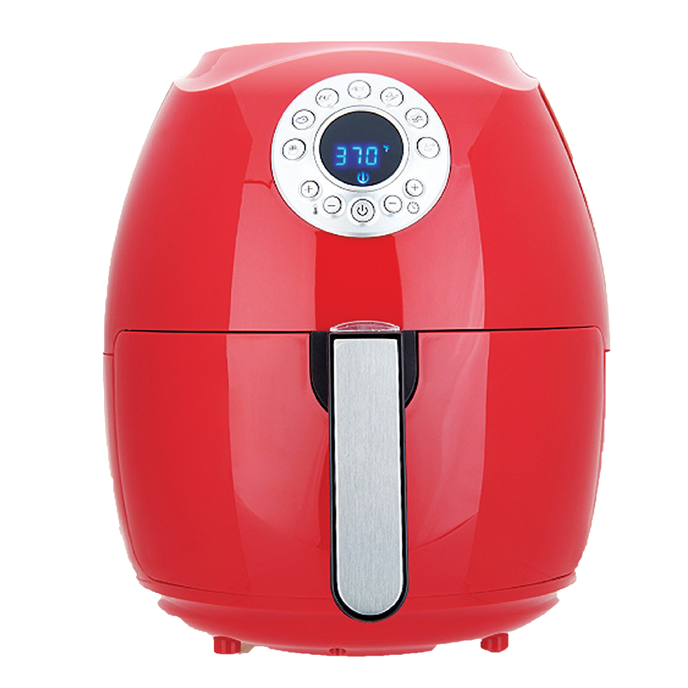 Cook's Essentials 3.4-qt 1500-Watts Digital Electric Air Fryer - Red