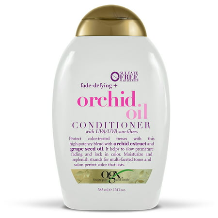 Battery Conditioner - OGX Fade-Defying + Orchid Oil Conditioner, 13.0 FL OZ
