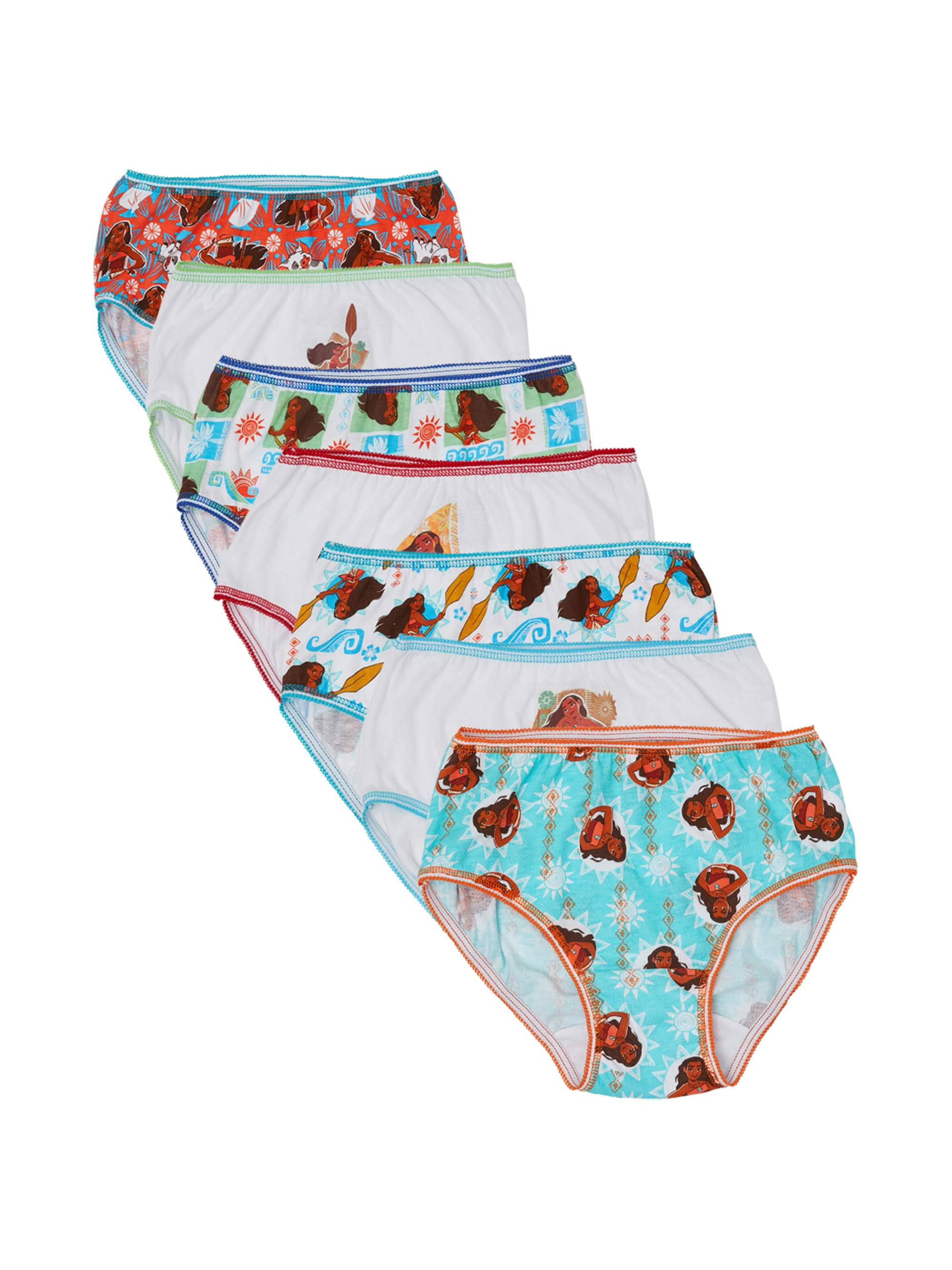 Moana Girls' Underwear, 7-Pack
