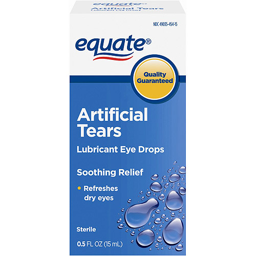 Equate: Sterile Artificial Tears Lubricant Eye Drops, 0.50 fl oz