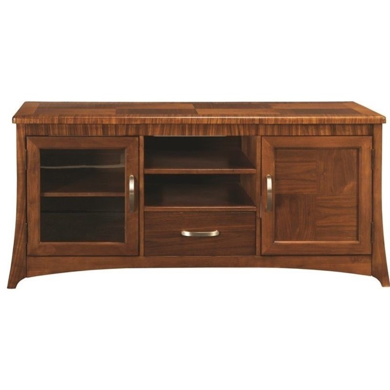 Somerton Milan TV Stand in Polished Brown