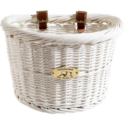 Nantucket Bicycle Basket Co. Cruiser Collection Bicycle Basket, White