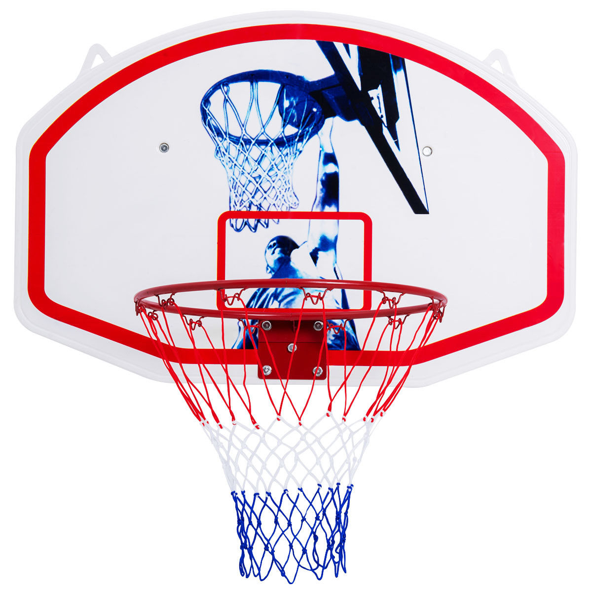 Gymax 35'' x 24'' Wall Mounted Mini Basketball Hoop Backboard & Rim Combo Indoor Sports