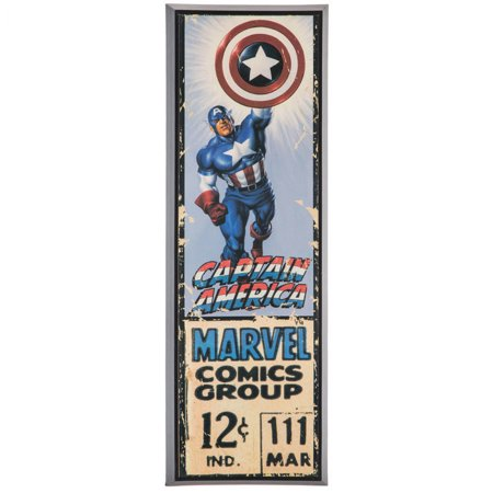 Captain America Decorations (Captain America Comic Style Home Decoration Wood Wall Art Theater Media Room Man)