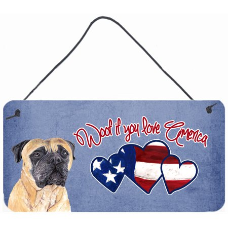 Woof if you love America Mastiff Wall or Door Hanging Prints SC9944DS612