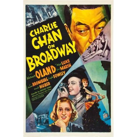 Charlie Chan On Broadway Movie Poster Metal Sign 8inx 12in - Broadway Sign