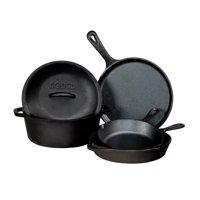 Lodge Pre-Seasoned Cast Iron Cookware Set