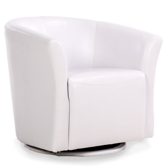 Belleze Faux Leather Club Tub Barrel Modern Accent Chair ...
