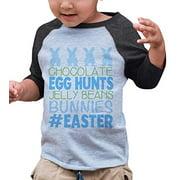Custom Party Shop Baby Boy's #Easter Happy Easter Grey Raglan 18 Months
