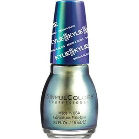 Denim   Bling Kylie Jenner Nail Polish  2097   Kameleon  Green Pearl    0 5 Fl Oz  Formaldehyde  Toluene  And Dbp Free By Sinful Colors From Usa