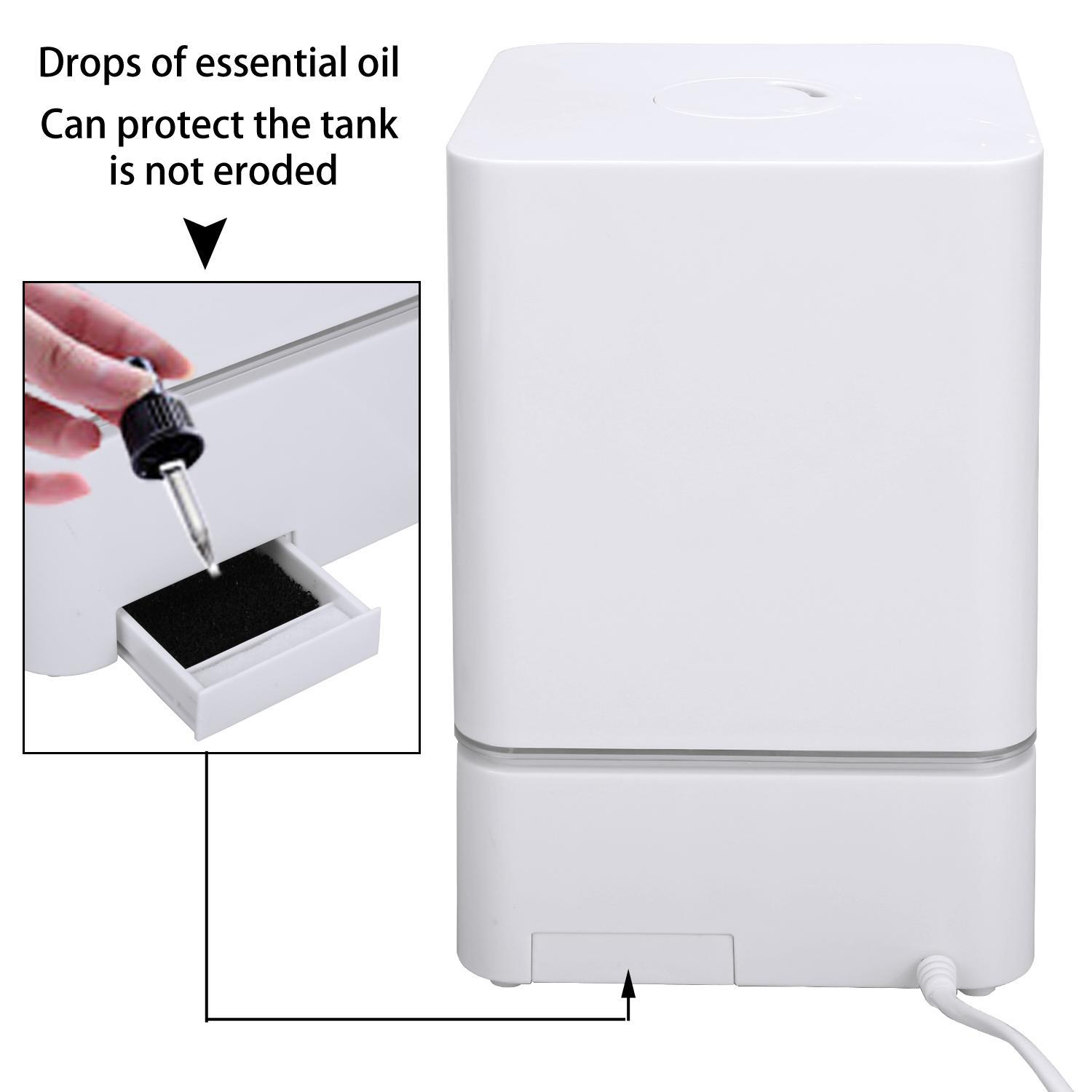 White 4L Air Humidifiers for Bedroom Cool Mist Ultrasonic Humidifier Vaporizer by