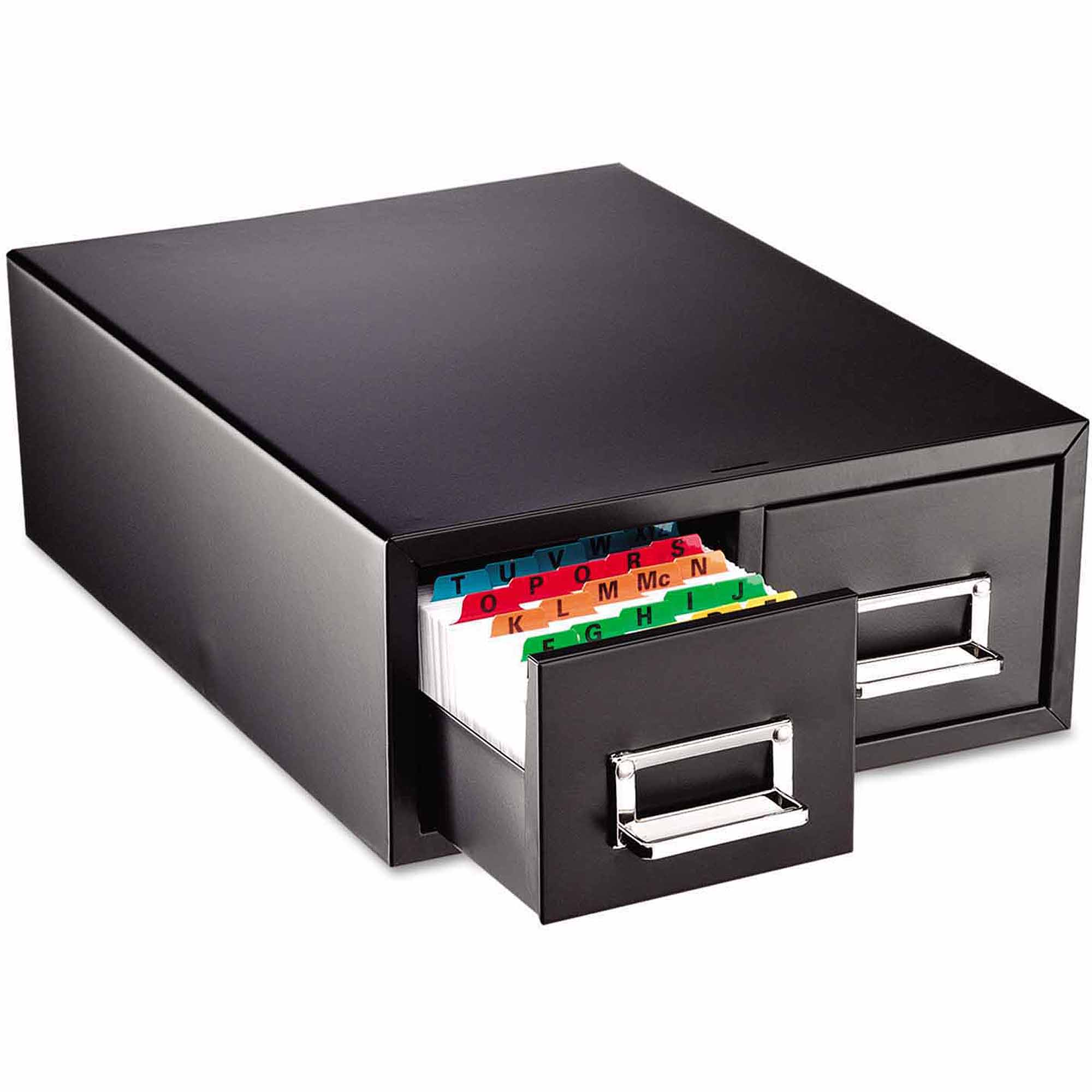 "SteelMaster Drawer Card Cabinet, Holds 3,000 5"" x 8"" cards"