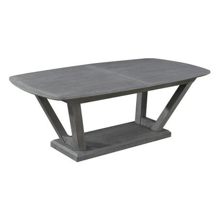 Leaf Table Base - Emerald Home Carrera Slate Gray 84