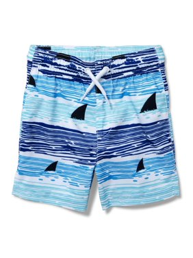 1dcb2409c3 Product Image The Children's Place Shark Print Stripe Board Short Swim  Trunk (Baby Boys & Toddler Boys