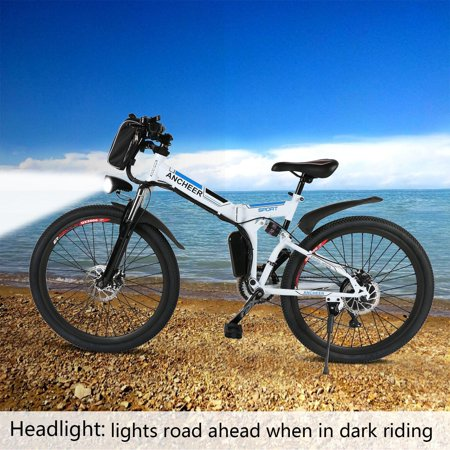 """26"""" Foldable 27 Speed Mountain Bike Electric Power Bicycle with Lithium-Ion Battery 36V LEO"""