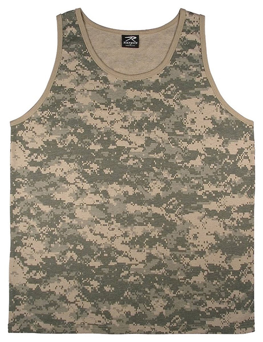 Rothco Camo Tank Top - ACU Digital Camo, Medium