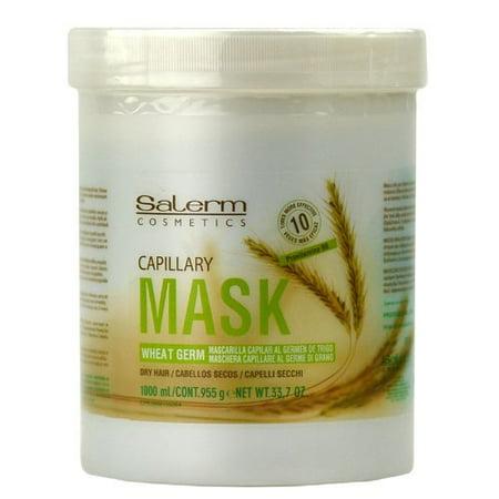 Salerm Mascarilla Capilar Wheat Germ Conditioning Treatment Mask, 33.7 oz /