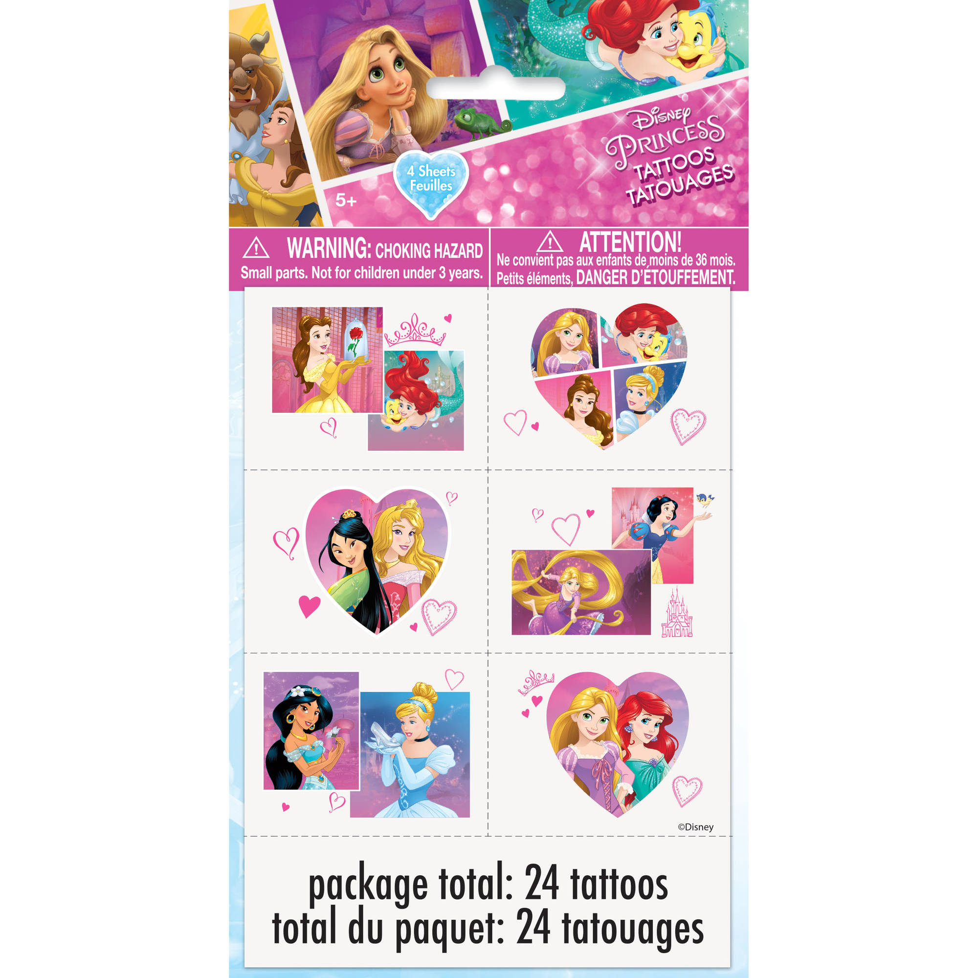 Disney Princess Temporary Tattoos, 24ct