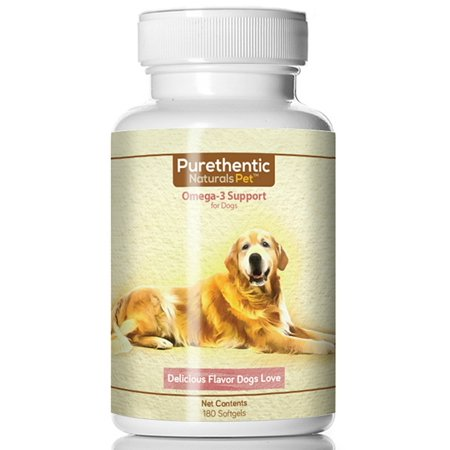 Omega 3 for Dogs, Fish Oil for Dogs 180 Softgels Featuring Pure & Natural Fatty Acids. (High Levels of EPA and DHA) (Helps Dog Allergies & Brain