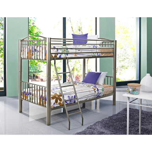 Powell Furniture Heavy Metal Twin-over-Twin Bunk Bed